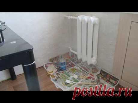 """""""Ремонт кухни. Радиатор отопления – краска!"""""""