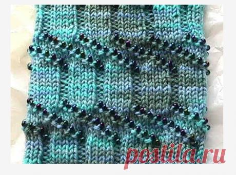 Как вязать спицами с бисером - Модное вязание