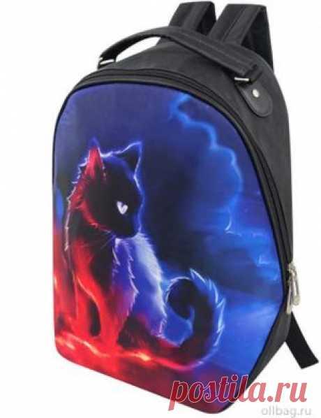 Рюкзак женский 2083-006 принт кот в интернет-магазине Ollbag.ru