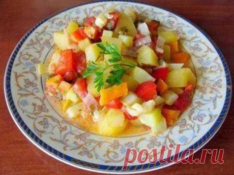 Овощное рагу из кабачков с картофелем рецепт – основные блюда