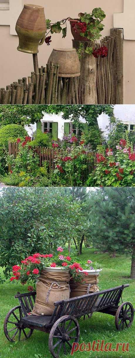 Деревенский стиль в ландшафтном дизайне: идеи оформления с фото | Дом Мечты