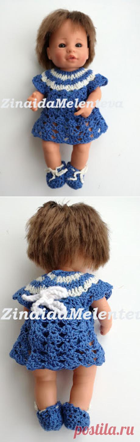 Вяжем вместе:  Платье для куклы