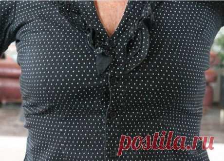 Увеличить блузку на размер (Diy)