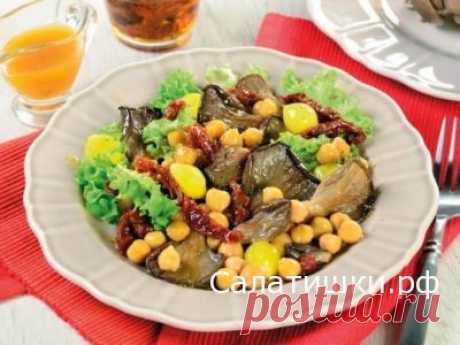 РЕЦЕПТ СЫТНОГО ПОСТНОГО САЛАТА С ВЕШЕНКАМИ И НУТОМ » Рецепты вкусных салатов