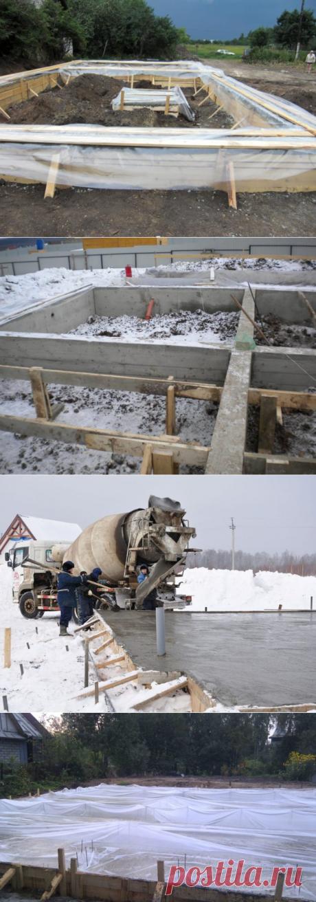 Технология бетонирования в мороз: чем укрывать бетон?