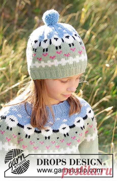 Детская шапка Lamb Dance от DROPS Design - блог экспертов интернет-магазина пряжи 5motkov.ru