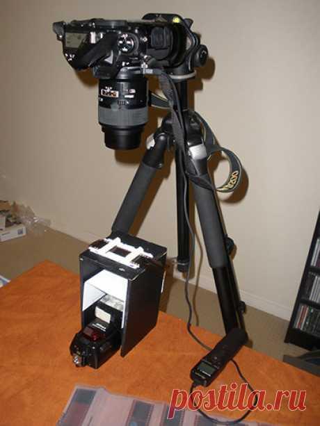 данный фотоаппарат пересъемка слайдов розовым бантом