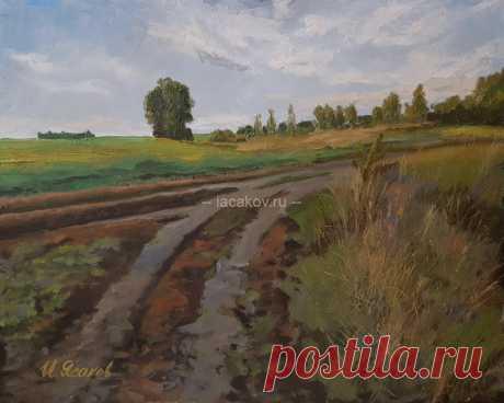 Дорога в поле - Официальный сайт художника Игоря Ясакова