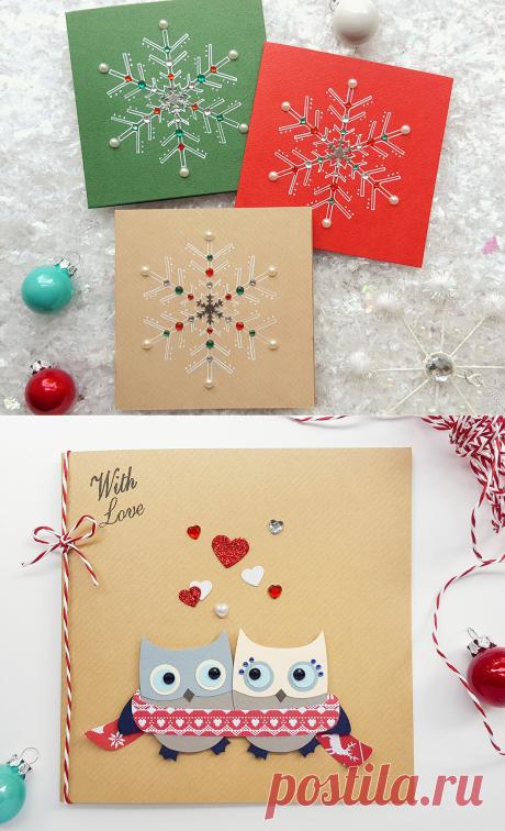 Новогодние открытки своими руками: 100 интересных идей