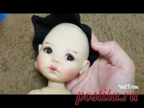 Парик для куклы из ниток