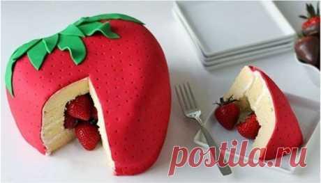 Оригинальный тортик 🍓😃😍