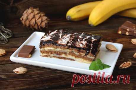 Торт из шоколадного печенья без выпечки рецепт с фото пошагово - 1000.menu