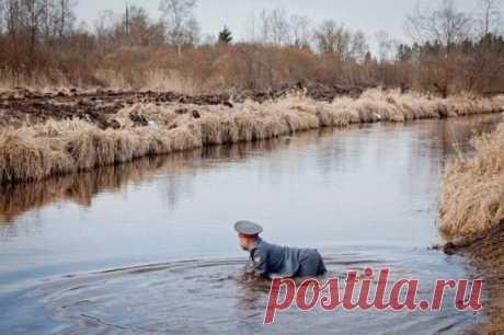 Очень редкий кадр , самец МЕНТАя откладывает икру )))