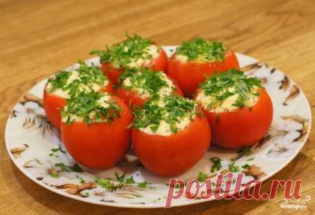 Томаты фаршированные сыром - пошаговый кулинарный рецепт на Повар.ру