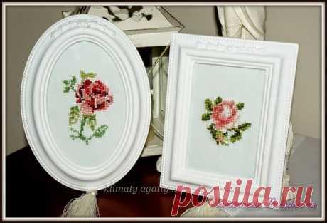 Схема вышивки крестом розы - Handmade-Paradise