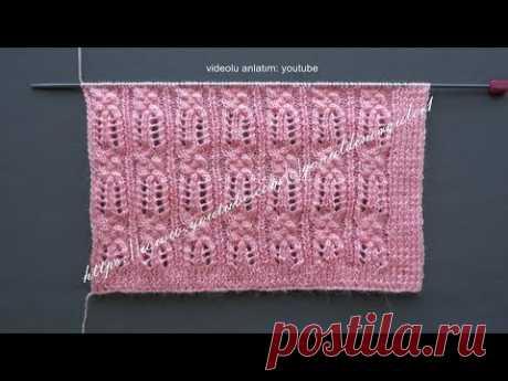 Firuze örgü modeli bayan yeleği şal örneği-Lace shawl knitting pattern