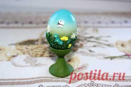 Пасхальное яйцо в технике «Цветочная филигрань» — мастер класс