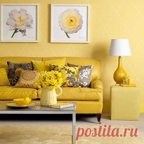 Солнце в доме: желтый как акцент