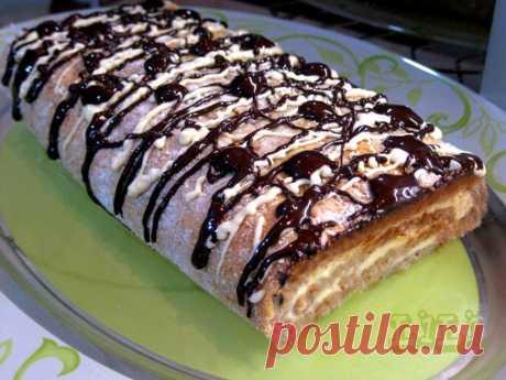 Творожный пирог - рулет с замечательной начинкой и орехами! Каждый кусочек - настоящий рай!