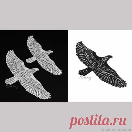 Орел вышитый патч аппликация FSL нашивка на одежду кружево – купить в интернет-магазине на Ярмарке Мастеров с доставкой - G003NRU   Москва