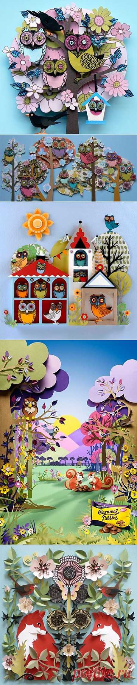 Объемные картины Helen Musselwhite из бумаги (трафик) / Бумага и карандаши (скрапбукинг, оригами, и т.д.) /