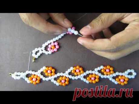 How to make make diy flower bracelet