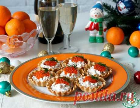 Тарталетки с тунцом, огурцами и икрой – кулинарный рецепт