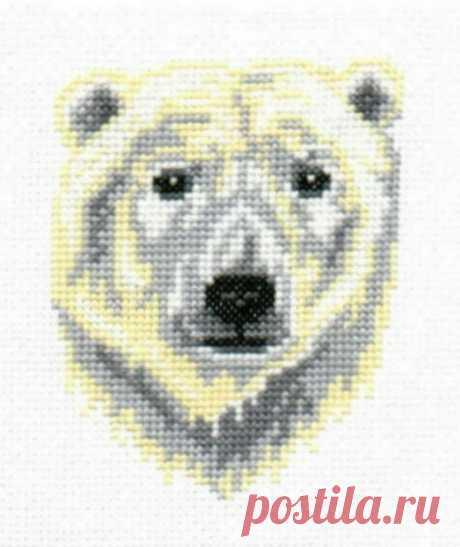 Polar Bear counted cross-stitch chart   Etsy