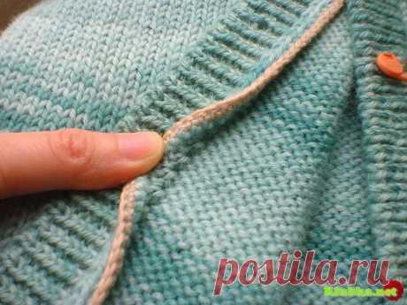 Из пуловера в кардиган или как правильно разрезать вязанную вещь.