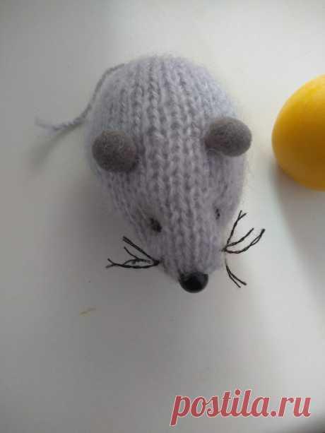 #Вязаные игрушки .#мышка