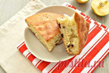 Быстрый яблочный пирог с изюмом - рецепт с фото пошагово