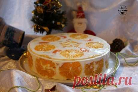 Желейный торт «Фруктовый новый год»