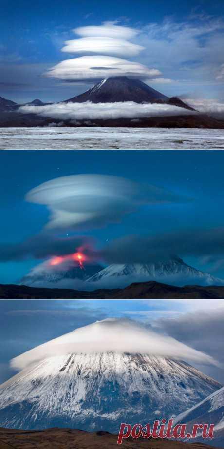Облака на Камчатке, похожие на НЛО : НОВОСТИ В ФОТОГРАФИЯХ