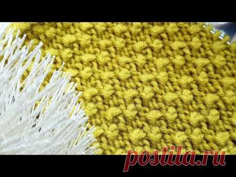 """Узор спицами """" рисовые дорожки"""" 🎀 knitting pattern."""