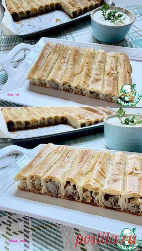 Фило-пирог с мясом и картофелем – кулинарный рецепт
