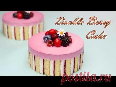 Рецепт сладкого торта с малиновым кремом / Sweet Raspberry Cream Cake Recipe