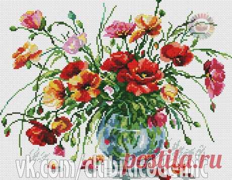#Цветы #Натюрморты #вышивка #схемы #рукоделие #handmade #хомячки #clubrucodelnic