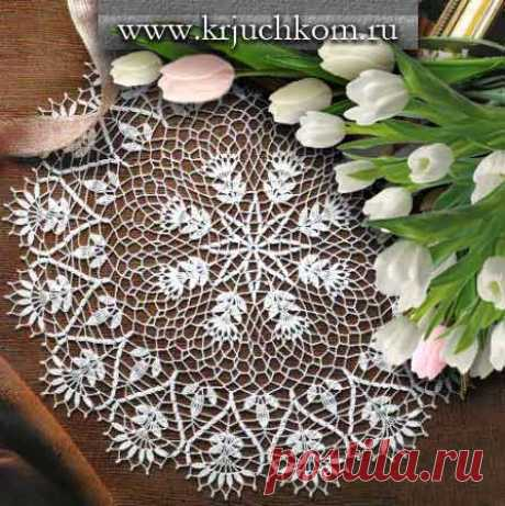 Вязание салфетки крючком \ фото и схемы вязания ажурных салфеток