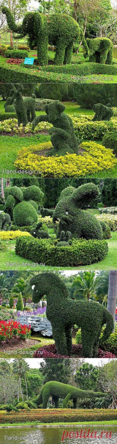 Зеленые фигуры в парке Горизонт — шедевры топиарного искусства