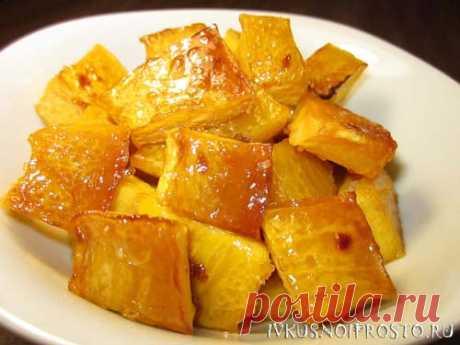 Тыква в духовке с медом - рецепт с фото   И вкусно и просто