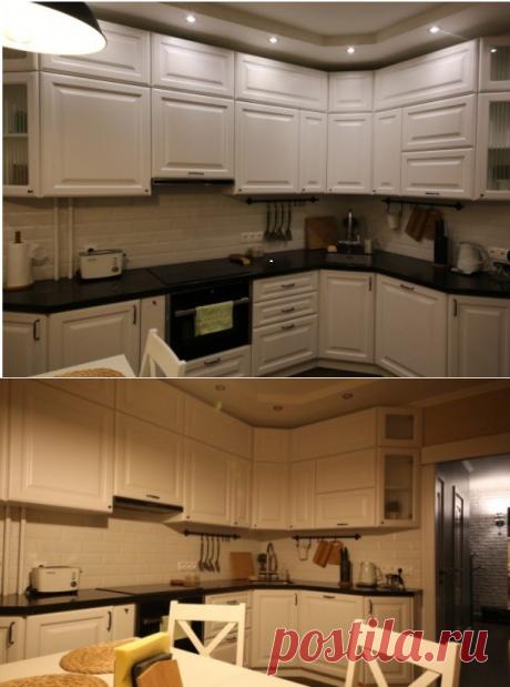 Светлая кухня с эркером  | Obustroeno.Com