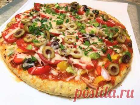 """USEFUL DINNER for all family Pizza on Chicken """"Тесте"""" without flour. Competition. Pizza Without Dough"""