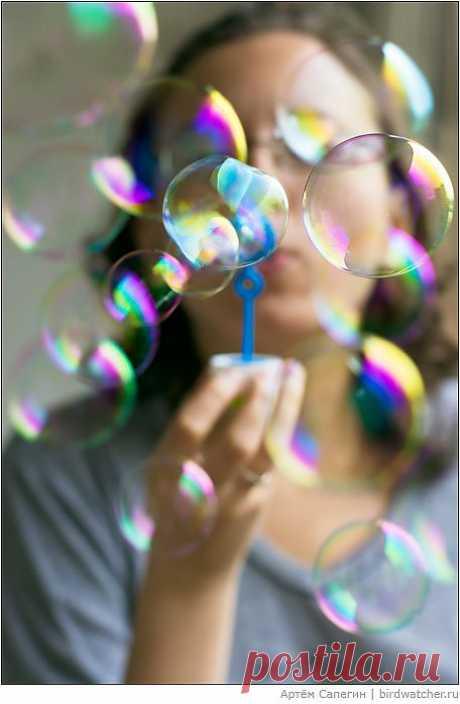 Как сделать мыльные пузыри?.