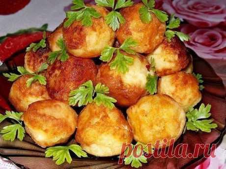 Интересное и необычное блюдо — картофельные шарики. Идеально с мясом или рыбой!