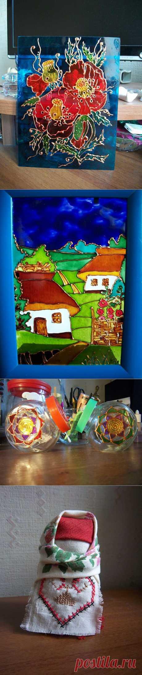 (+1) сообщ - Витражная роспись по мотивам батика Виктории Игнатовой и другие мои работы | Очумелые ручки