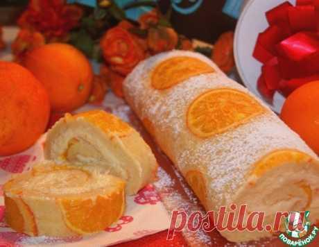 Бисквитный апельсиновый рулет – кулинарный рецепт