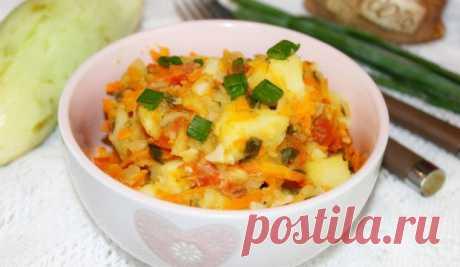 Овощное рагу из кабачков и картофеля - полезно, сытно и так сочно! Блюдо на каждый день