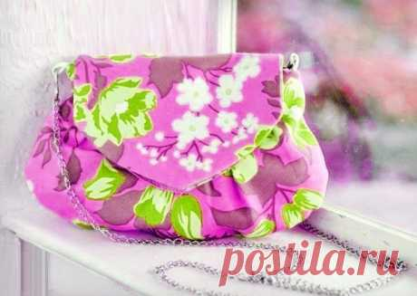 How to sew a bag from fabric the hands | 33 Hand-made articles the Small nice handbag – an accessory which has to be in clothes of each woman. Today we will tell you how to sew such bag the hands