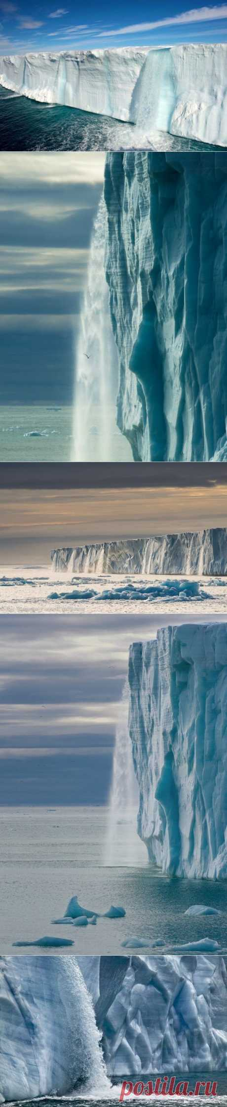 Ледниковые водопады, архипелаг Шпицберген (Свальбард)