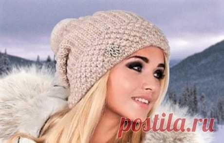 3 красивые модные шапки, связанные английской резинкой (с описанием) | Идеи рукоделия | Яндекс Дзен